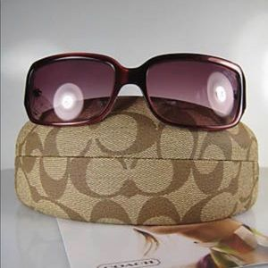 Coach Delphine Tortoise Sunglasses with Case.